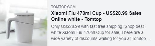 Xiaomi Fiu 470ml Cup Купон: HYXFCUP Цена: $ 19,39