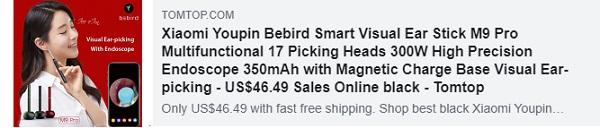 СКИДКА 41% на Xiaomi Youpin Bebird Smart Visual Ear Stick M9 Pro Multifunctional 17 Picking Heads
